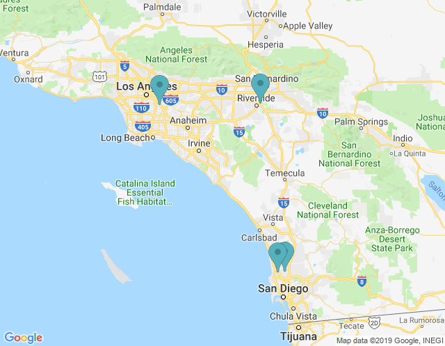 Map of San Diego Office Furniture Showroom