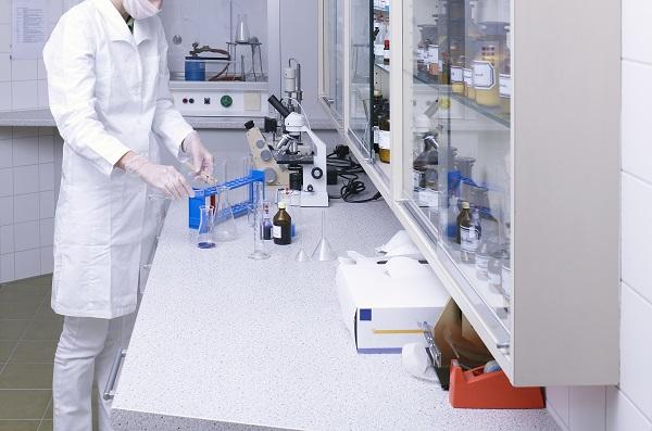 woman lab coat white